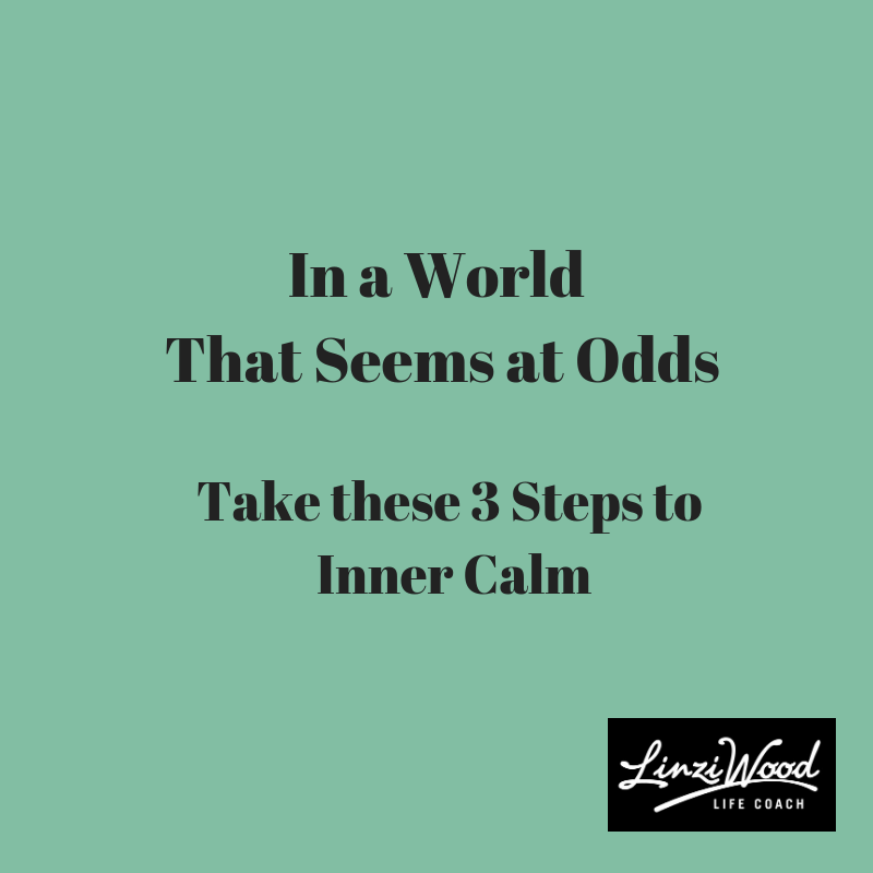 In a World that Seems at Odds – 3 Steps to Inner Calm